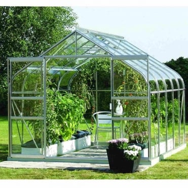 Saturn Silver Framed Greenhouse 8X10