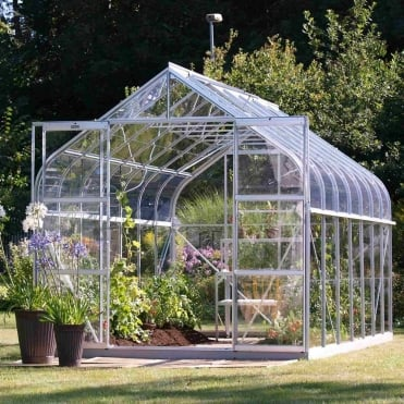 Saturn Silver Framed Greenhouse 8X14