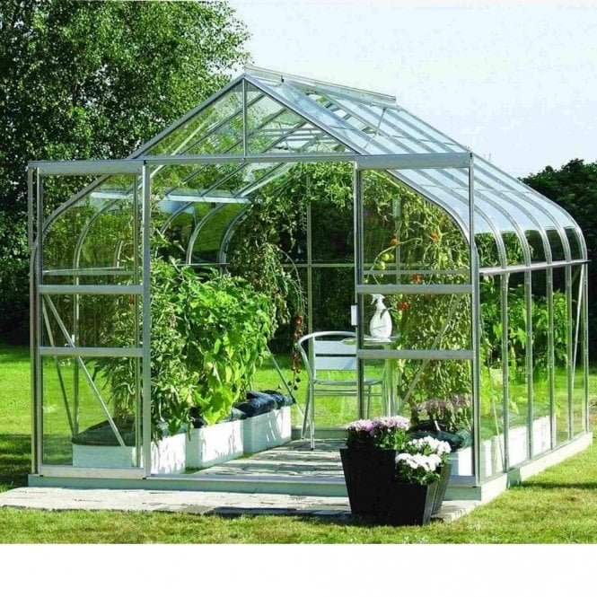 Vitavia Saturn Silver Framed Greenhouse 8X6