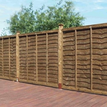 Weston Professional Lap Fence Panel - Brown