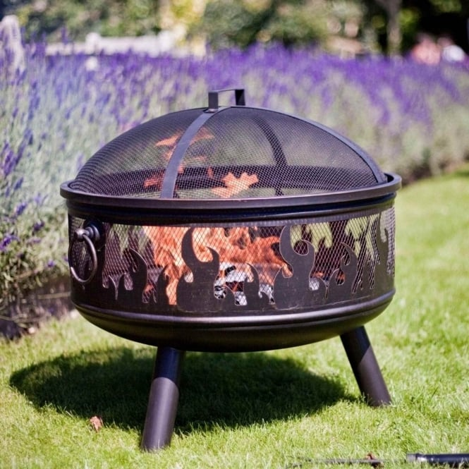 La Hacienda Wildfire Firepit With Grill