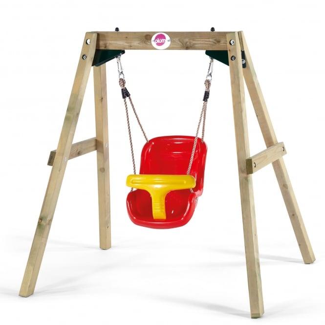 Plum Wooden Baby Swing Set Garden Street